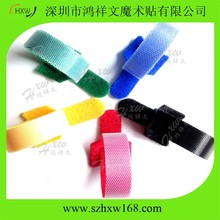 Double sided Hook And Loop strap logo printed cable ties customized