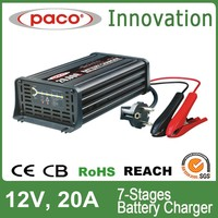Home depot car battery charger 12v 20A,7 stage automatic charging with CE,CB,RoHS certificate