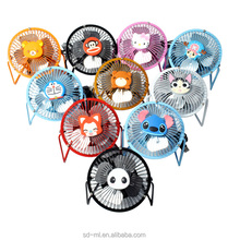 "4"" mini desk fan USB office fan with cartoon hot sale to USA"