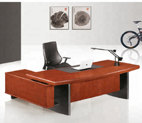 Cheap guangzhou executive wooden office table and chair price