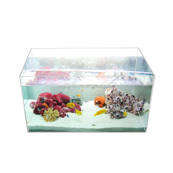 Rectangle Acrylic Fish Tank Small Table Top Fish Aquarium