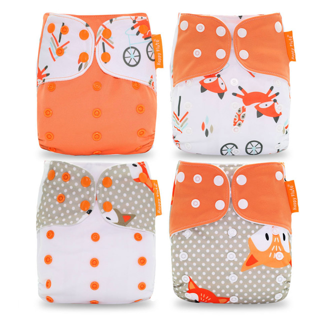 Elinfant reusable & washable cloth diaper nappy printing pul kids cloth diaper