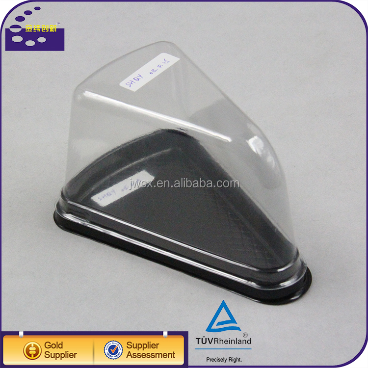 Food Grade Plastic Cake Containers / Triangle Sandwich Box Packaging