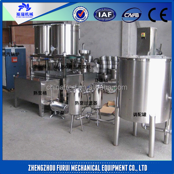 outputt(soy milk) 680L soybean milk tofu making machine/soybean milk machine
