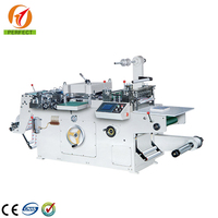 320 Automatic label flat bed die cutting machine with with punching, hot-stamping ,laminating