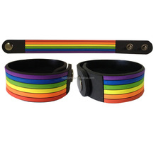 LGBT RAINBOW customize pride gay wristband ,OEM dog wristband