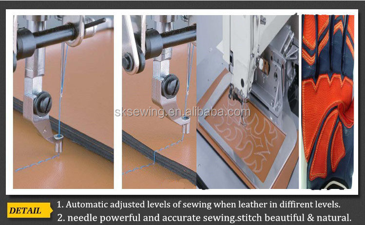 leather shoes upper automatic pattern sewing machine for car cushion