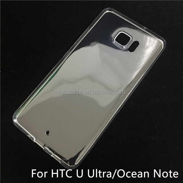 Soft TPU Silicon Transparent Clear Case for HTC ocean note/u ultra