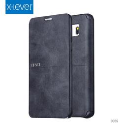 Customized Logo Black Leather Case For Samsung Note 5 Mobile Phone Case Printer
