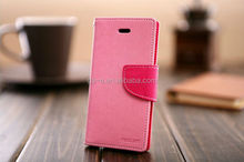 2014 hot selling flip leather wallet case for samsung galaxy fame s6810