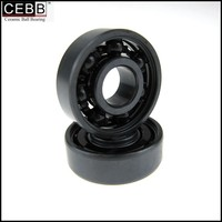 reduced wear WS2 coating Si3N4 ceramic ball skateboard bearing