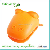 Orange crocodile silicone green yellow kitchen gloves