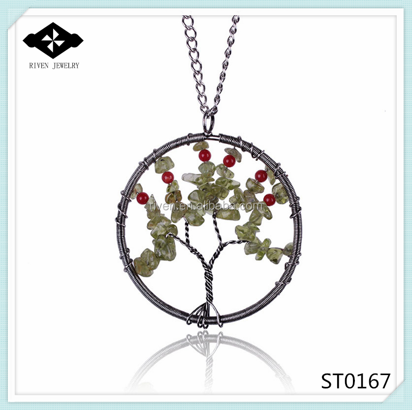 ST0167 High Fashion Women Wonderful Tree of Lift Stone Pedant Necklaces Jewelry 2015.jpg