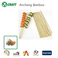 Eco-friend Natural Disposable Bamboo Brochette Skewers For BBQ