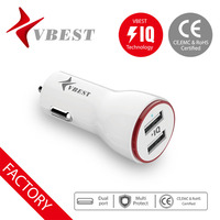 VBEST IQ technology cell phone double usb mini usb car charger