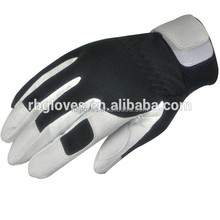 White Synthetic Leather Plain Sports Glove/Good Safety Glove
