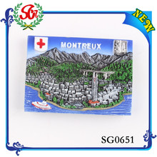 SGM651 Montreux beautiful cities Different countries of fridge magnet