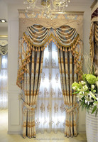 Thick warm luxury curtains with jacquard pattern