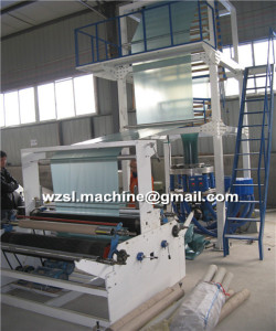 HDPE Super High Speed Blown Film Machine with high output and Screw L/D ratio 32:1 SJFM-55