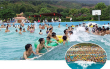 Water park funny tsunami wave pool TX5076A