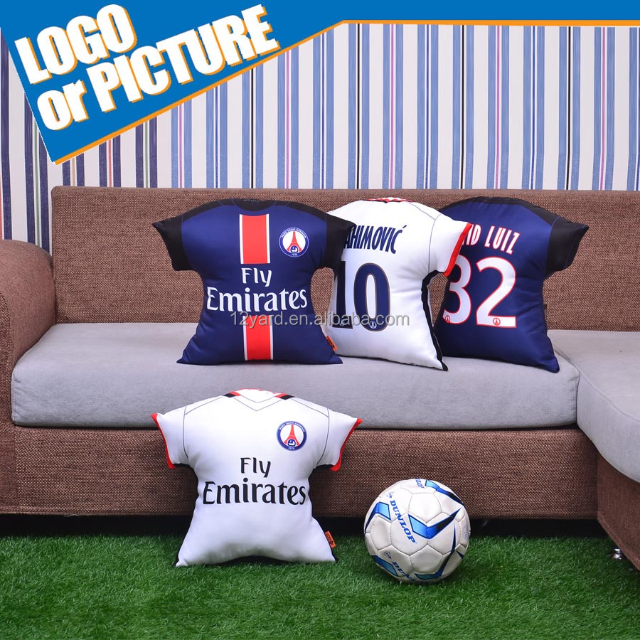 fashion decroative cushion football team printed jersey pillow & football pillow case