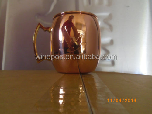 Copper color Cup, copper mug, copper cup, grey goose cup