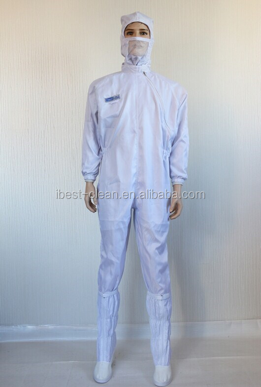 Samsung Jumping suits washable Polyester Fiber ESD Cleanroom Grid coveralls