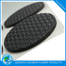 Adhesive backed customized foam rubber bumper pad