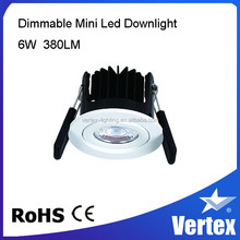 6w mini recessed dimmable downlight dim to warm Ra90