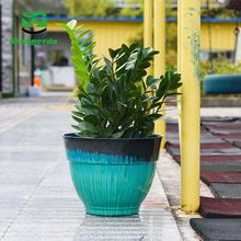 furniture round bright color china finishing paint flower pots