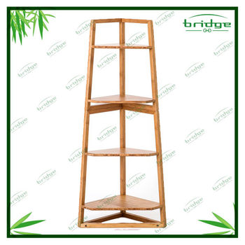 4-tiers China bamboo furniture flower shelf