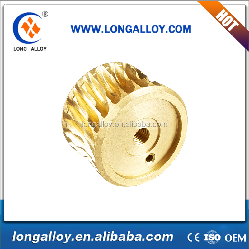 CNC machining wear part small brass pinion gears small worm gear