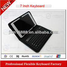 silicone bluetooth keyboard with touchpad for ipad/iphone