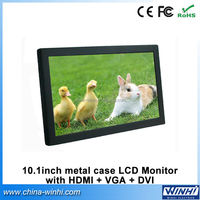 10 inch VGA DVI Mini LCD Screen Advertising Player HD Portable LED Display Monitor