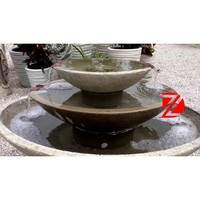 3 tier bowl shape stone fountain