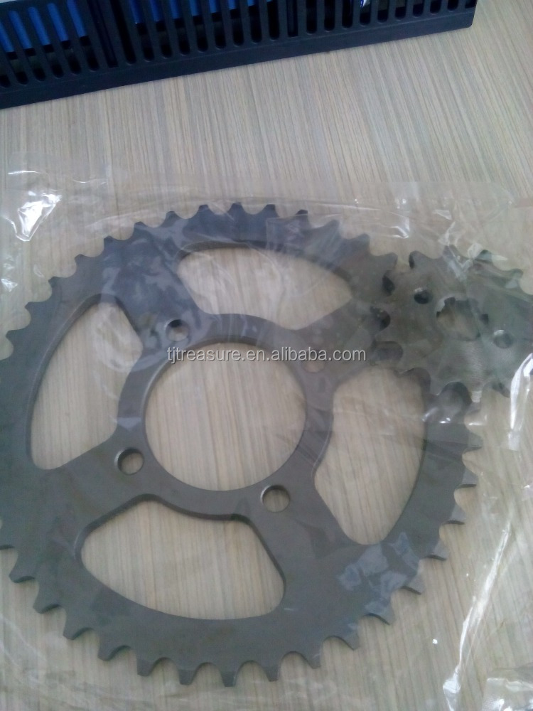motorcycle chain sprocket set/motorcycle chain gear/spare parts china motorcycle
