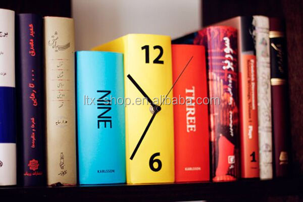 Creative Book Clock, New Fancy Personal Table Clock, Dictionary Decorative Clock For Wholesale
