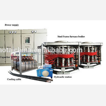 8ton capacity steel scrap melting induction furnace with high quality