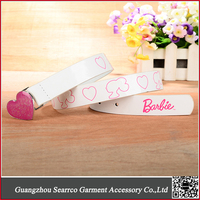 PU Fashion Lovely Latest Design Girls Kids Belts with Heart Decoration