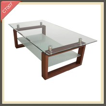 Italian design glass cube light up coffee table CT007
