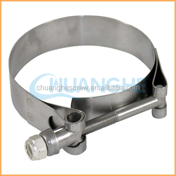Dongguan Chuanghe Made High Quality heavy duty rubber tube clip/hose clamp
