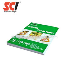 Supricolor Factory wholesale 120g A4 inkjet photo paper,glossy photo paper