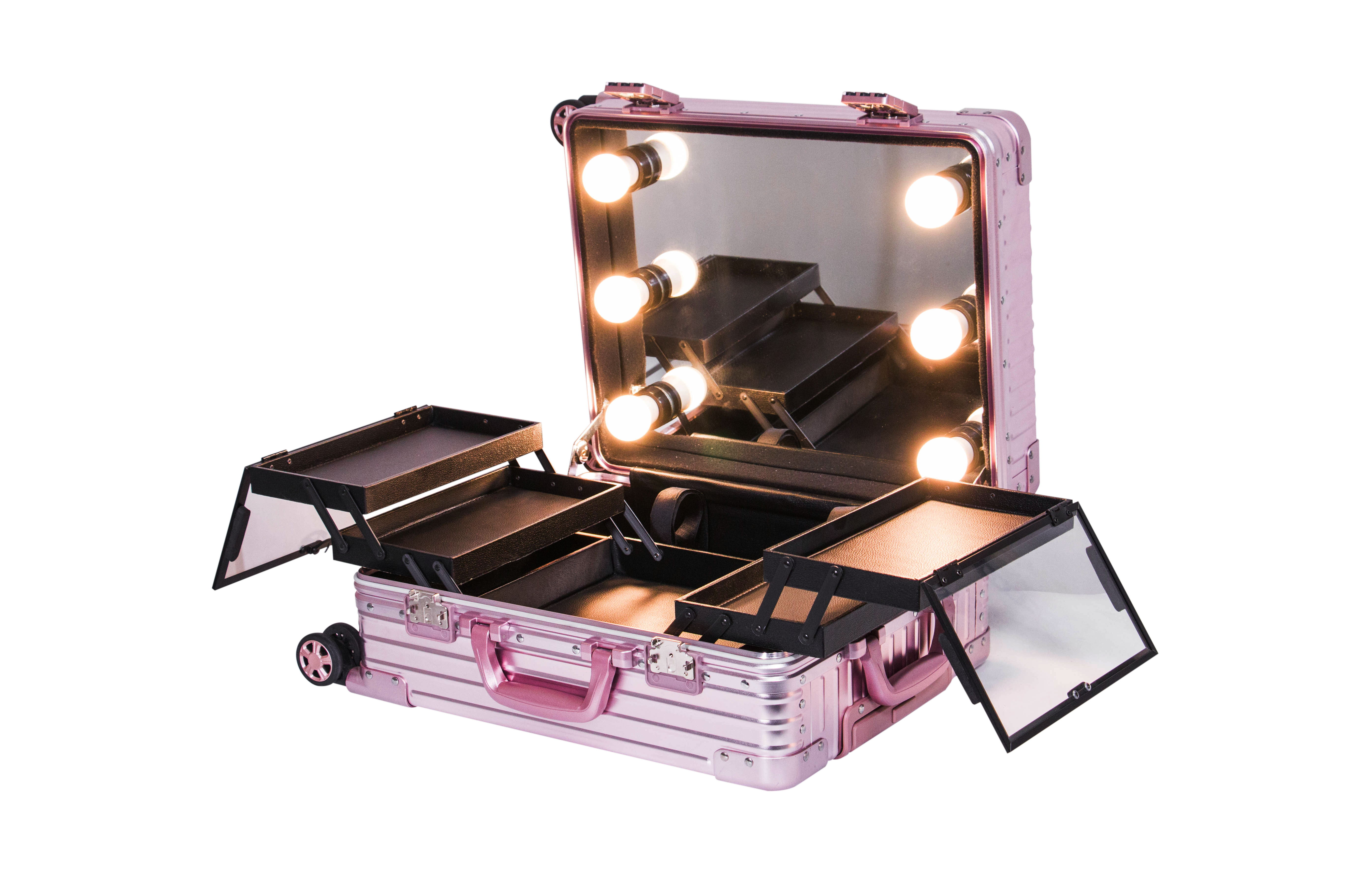 Koncai Most Popular Classical Beauty Case Makeup Station with lights and legs