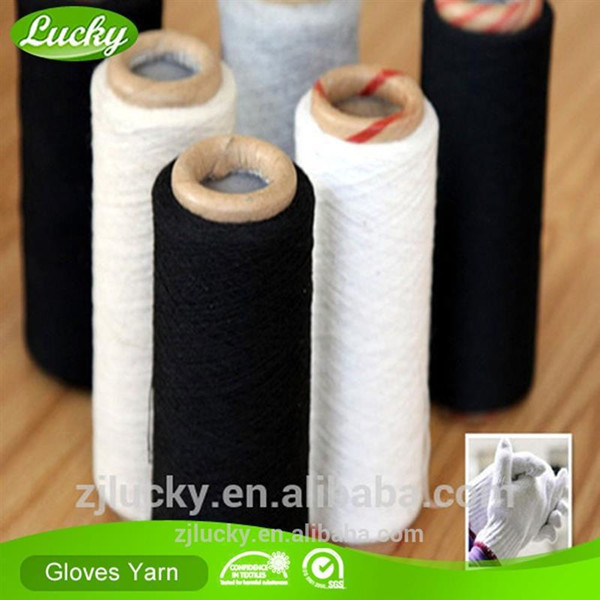 Cnlucky Lucky Factory recycled 70/30 cotton/polyester blended glove yarn for gloves knitting, export glove yarn