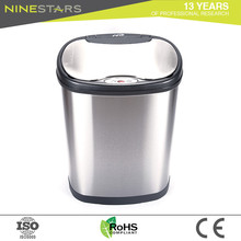 Hot 40l automatic touchless stainless steel trash can