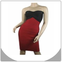 Wholesale black and wine red off shoulder bandage dress cocktail dress china online shopping