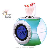 LCD Talking Sensor Voice Sound Controlled Digital Projector Alarm Clock