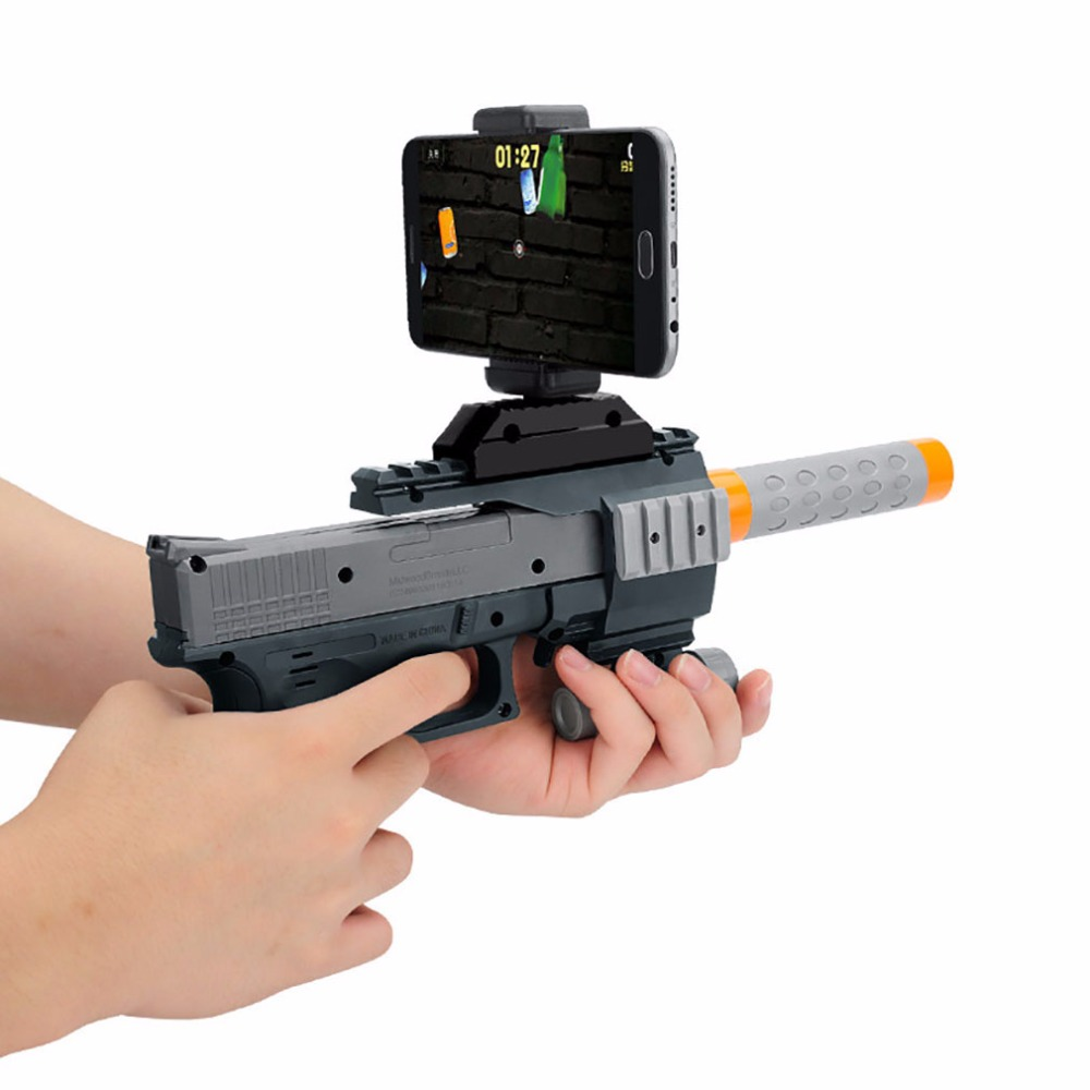 Factory supply Bluetooth AR gun toys plastic ar game toy gun with 3D shooting games