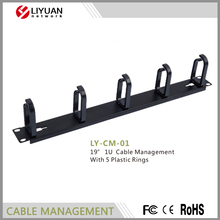 LY-CM-01 Cable management plastic rings 1u horizontal Cable Management