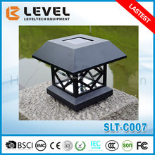Black Solar Powered LED Garden Post Deck Cap Square Pathway Outdoor Fence Lights